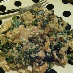 My Best Badi: Low Cal Creamy Chicken, Spinach, and Asparagus
