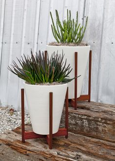 Modernica Case Study Ceramic Funnel Planetr With Wood Stand