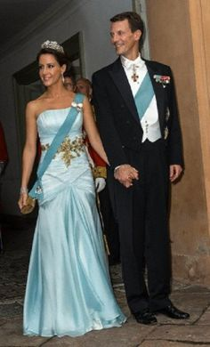 Danish Prince Joachim and Princess Marie  attends a gala dinner at Fredensborg Castle on 18 Sep 2013.