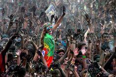 Joao Taborda aus Portugal erreichte mit dem Bild eines Jugendfestivals in...