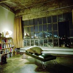 Sweeping views and the dramatic raw elements make this loft one of my all-time favorites.