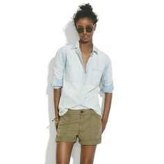 Campstitch Fatigue Shorts - It is getting hot in Atlanta soon, and I have some great tops from SF that would go well with these bottoms.
