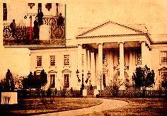 "Only about 130 photos of Lincoln are known to exist, so excitement peaked when this March 5,1865 photo was discovered in Gen. Ulysses S. Grant's family-owned album.  It shows President Lincoln in front of the White House -  it could be one of the last photos taken of him before he was assassinated. The seal of photographer, Henry F. Warren appears on the back of the photograph, along with an inscription: ""Lincoln in front of the White House."""