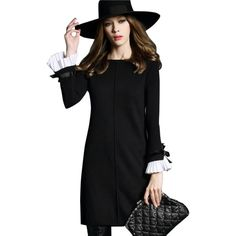 Aliexpress.com: Comprar Winter Women Sweaters Knitted Dress Elegant A line Pullovers Female Fashion Casual Party Dress Butterfly Sleeve Black&Gray de fashion women sweater fiable proveedores en MOSHU Designer Dresses Store