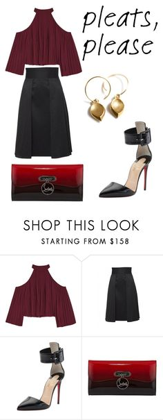 """""""Untitled #149"""" by anjieffat on Polyvore featuring W118 by Walter Baker, TC Fine Intimates and Christian Louboutin"""