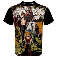Death Note, Shirt, Anime, Manga, Kira, T-Shirt, Light, Yagami, Black, Manga Shirt, Anime Shirt, Men's Shirt, Ryuzaki, Deathnote, Misa