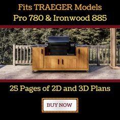 Rec Tec 700 Grill Cart Plans | Seared and Smoked Grill Cart, Grill Table, Smoke House Diy, Big Green Egg Table, Wood Smokers, Outdoor Kitchen Plans, Oil Based Stain, Cedar Siding, Table Accessories