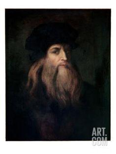 Self Portrait Giclee Print by Leonardo da Vinci at Art.com