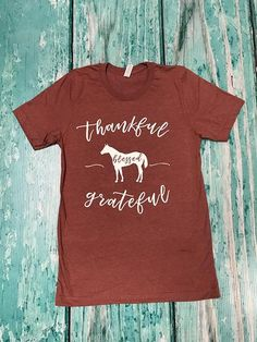 Unisex AQHA on back collar with Thankful logo in white on the front. Horse Riding Clothes, Thankful And Blessed, Grateful, Horse Shirt, Equestrian Outfits, Equestrian Fashion, English Riding, Advanced Style, Brown And Grey