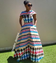 Image may contain: 1 person, standing African Maxi Dresses, Latest African Fashion Dresses, African Dresses For Women, African Print Fashion, Africa Fashion, African Attire, African Wear Designs, African Traditional Dresses, Look Fashion