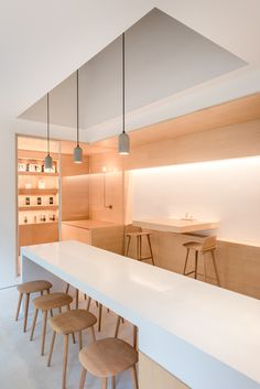 Minimal yet Elegant Kitchen Design Ideas - The Architects Diary Minimal Kitchen Design Inspiration is a part of our furniture design inspiration series. Minimal Kitchen design inspirational series is a weekly showcase Design Shop, Coffee Shop Design, Cafe Design, Cafe Interior, Office Interior Design, Office Interiors, Corporate Interiors, Beton Design, Luminaire Design