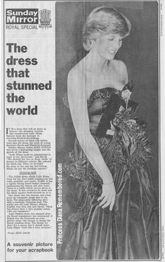 Lady Diana's first public engagement - in 1981.