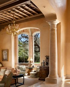 Living Room alcove  #chandeliers
