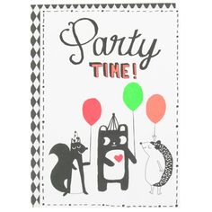 humbug party time greeting card at Paperchase