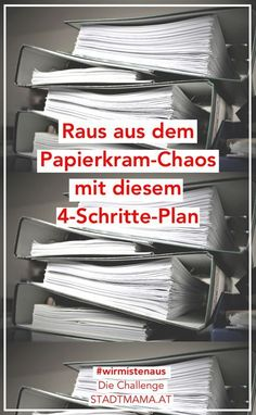 Mit diesen vier Tipps mistet ihr eure Dokumente ordentlich aus Paperwork Muddling requires one thing above all else: consequence! With these four tips, you'll get organized and sort your documents regularly.