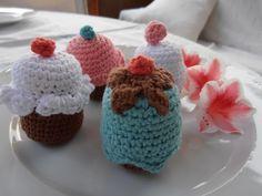 CROCHET CUP CAKES Cup Cakes, Crochet, Desserts, Food, Amigurumi, Tailgate Desserts, Deserts, Cupcakes, Essen