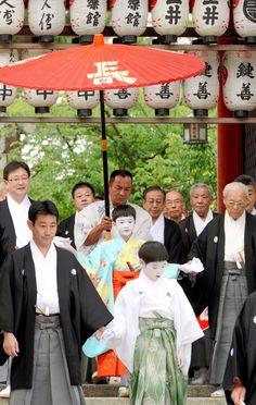 """Gion Matsuri"" begins. A traditional summer festival in Kyoto, Japan."