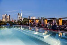 Aperitivo plek met fantastisch skyline uitzicht in Milaan. Ceresio 7: Populaire aperitivo plek voor de milanezen.