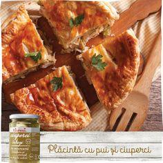 Raureni - Cu drag din natura - Plăcintă cu pui și ciuperci Spanakopita, Apple Pie, Ethnic Recipes, Desserts, Food, Tailgate Desserts, Deserts, Essen, Postres