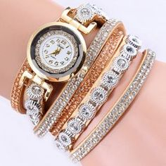 SHARE & Get it FREE | Rhinestoned Artificial Leather Wrap Bracelet WatchFor Fashion Lovers only:80,000+ Items • New Arrivals Daily • Affordable Casual to Chic for Every Occasion Join Sammydress: Get YOUR $50 NOW!
