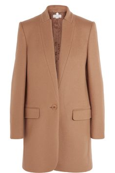 Stella McCartney - Bryce Wool-Blend Coat  Camel wool-blend 75% wool, 25% polyamide; lining1: 52% rayon, 48% cotton; lining2: 100% rayon Dry clean Imported