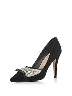 6452470702b19  AdoreWe  StyleWe Sandals - Designer G-sparrow Black Rhinestone Summer PU  Sandal - AdoreWe.com