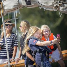 HM King Willem-Alexander, HM Queen Maxima and Princess Beatrix attend Sail Amsterdam 2015 in Amsterdam at The Groene Draeck