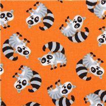 oranger mini Waschbär Tier Stoff von Timeless Treasures - Tierstoffe - Stoffe