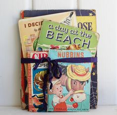 Vintage Children's BOOK COVERS Bundle for Crafting, 9 Pieces, Vintage Crafting Supplies, Vintage Nursery Decor by BygoneCharm on Etsy Old Books, Vintage Children's Books, Vintage Crafts, Vintage Nursery Decor, Nursery Shelves, Book Covers, Childrens Books, Craft Supplies, Crafting