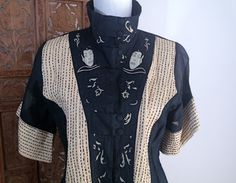 Vintage 1980s/90s NATAYA India Asian Style Embroidered Tunic Shirt M/L