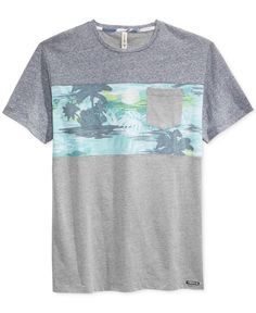 Univibe Men's Cregg Floral-Print Pieced Pocket T-Shirt