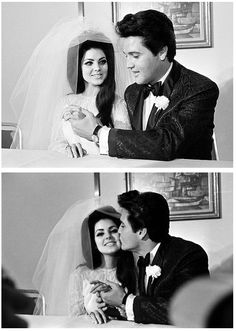 The way she looks at him Elvis and Priscilla at their wedding day, May 1, 1967 Xoxo F