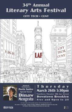 Literary Arts Festival Thursday, March 26, 2015 5:30PM Voorhees Theater, 186 Jay Street