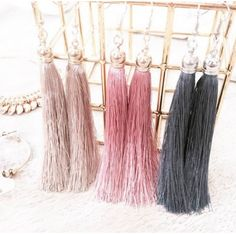 The gorgeous Simplice Tassel Earrings - all colours available now at www.tealandtala.com.au Tassel Earrings, All The Colors, Tassels, Colours, Jewelry, Fashion, Moda, Jewlery, Jewerly