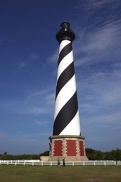 Cape Hatteras Lighthouse in North Carolina - 208 feet - Josh and I climbed to the top of this last summer!  Whew!
