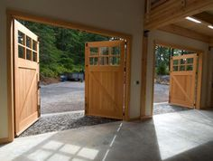 Swing Out Doors for Garage | Carriage House Garage. Perfect for my workshop