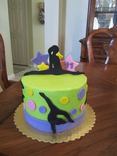 Cake for a 11 yr old who is in gymnastics.  Fun to do!