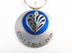 Hand stamped best nana ever keychain by jewelryandmorebykat