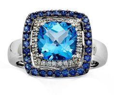 Le Vian blue topaz ring.
