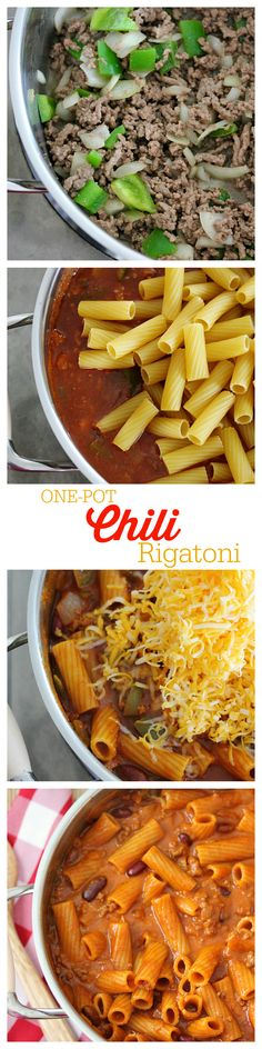 This hearty One-Pot Chili Rigatoni was created by @simplystacie using Ragú's Old World Style Traditional Sauce. Perfect comfort food! #OnePotPasta @ragusauce