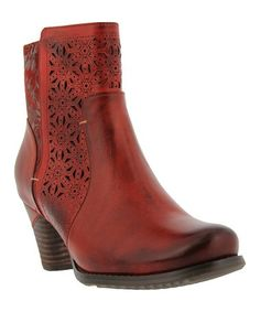 Look what I found on Red Belle Leather Bootie - Women Spring Step, Walk On, Lace Overlay, The Struts, Leather Booties, Wearable Art, Cowboy Boots, Zip Ups, Pairs
