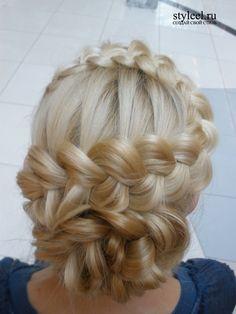 dutch braid updo by Leonor Lojan