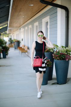 How to Style a Casual Black Dress for the End of Summer by Fashion Blogger Maggie Kern of Polished Closets