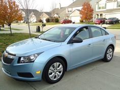 My ice blue metallic 2012 Chevy Cruze... If I lease a car. <3. I really want this car. Low miles. Affordable payment.