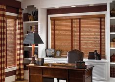 Wood Blinds with Tapes (2 on 1 headrail)