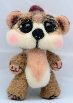 Needle Felted Teddy Bear Soft Sculpted Bear by innercreatures ---- omg, those eyes are begging for me to adopt her!