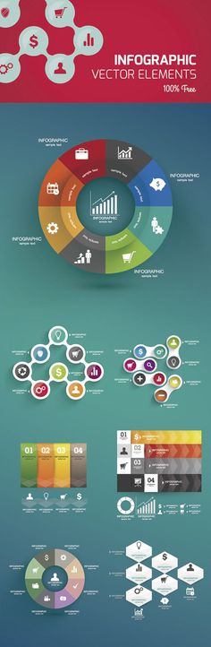 Free Vector Infographic Design Template #infographics
