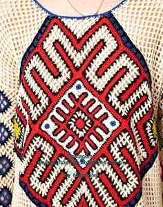 Image 3 of Eleven Paris Aztec Crochet Jumper Crochet Jumper, Crochet Eyes, Crochet Blouse, Mode Crochet, Crochet Art, Crochet Doilies, Tatting Patterns, Crochet Patterns, Crochet Clothes