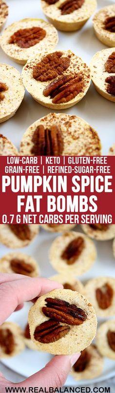 Pumpkin Spice Fat Bombs: low-carb, keto, gluten-free, grain-free, & refined-sugar-free! Less than 1g net carbs per serving!