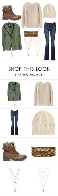 """""""Outdoors Indie"""" by madisonbelle891011 ❤ liked on Polyvore featuring Mr & Mrs Italy, Giada Forte, 7 For All Mankind, Brora, Steve Madden, Chan Luu, With Love From CA and Jules Smith"""